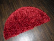 HALF MOON SHAGGY RUGS 60CMX120CM WOVEN GOOD QUALITY NEW SUPER THICK PILE RED